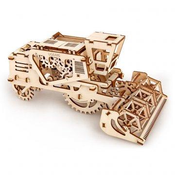 Механический 3D-пазл UGears Combine (Комбайн)