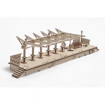 Механический 3D-пазл UGears Railway Platform (Перрон)